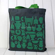 Custom simple printed cotton fabric shopping bag/printed cotton bag