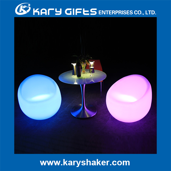 led lighted coffee bar LUMINOUS CHAIR plastic home garden illuminated led furniture