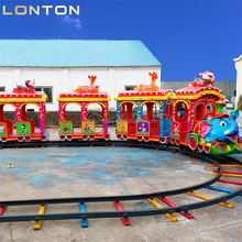 playground theme park commercial elephant train trackless track kids electric amusement train rides
