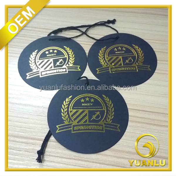 High quality clothing paper label Yuanlu's round hang tags