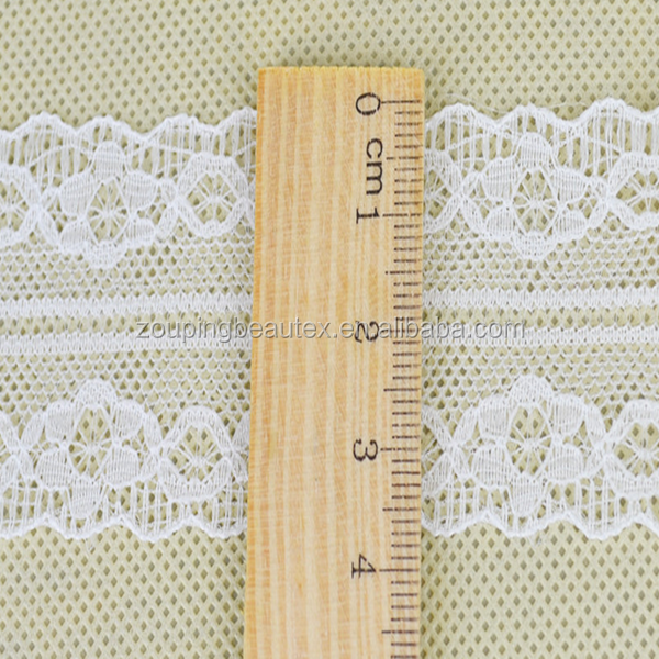 100% nylon ivory lace ribbon fabric and lace trim wholesale for decoration