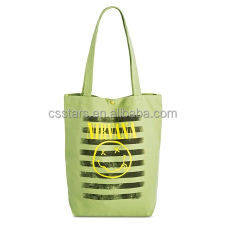 Women's Pop Culture Snap Closure Tote bag,green cotton tote bag