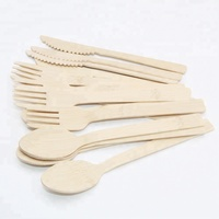 Biodegradable bamboo disposable fork knife spoon