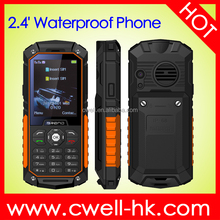 2.4 Inch Screen Dual SIM 30 Meters Powerful Torch Big Stereo Loudspearker Long life battery IP68 Waterproof Rugged phone S8