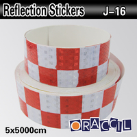 5cmx50m Adhesive Vinyl Warning Sticker Reflective Material