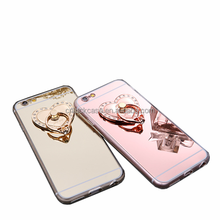 Beauty Luxury Diamond Hybrid Glitter Bling Mirror Back Smartphone Cover Case For Iphone 6/6S