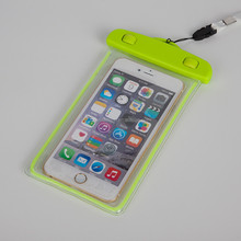 High Quality Universal Waterproof Phone Bag Pouch Outdoor Dry Pouch with Fluorescence for up to 6 inches screen Cell Phone