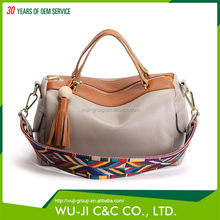 Different Color Full Grain Lady Genuine Leather Bag Ladies