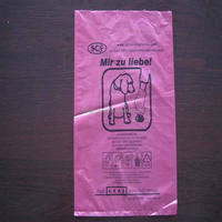 Competitive price red color dog poo bag with 1S1C printing