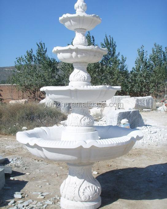 gradas en forma de flor fuente de agua fuente de piedra de granito de mrmol