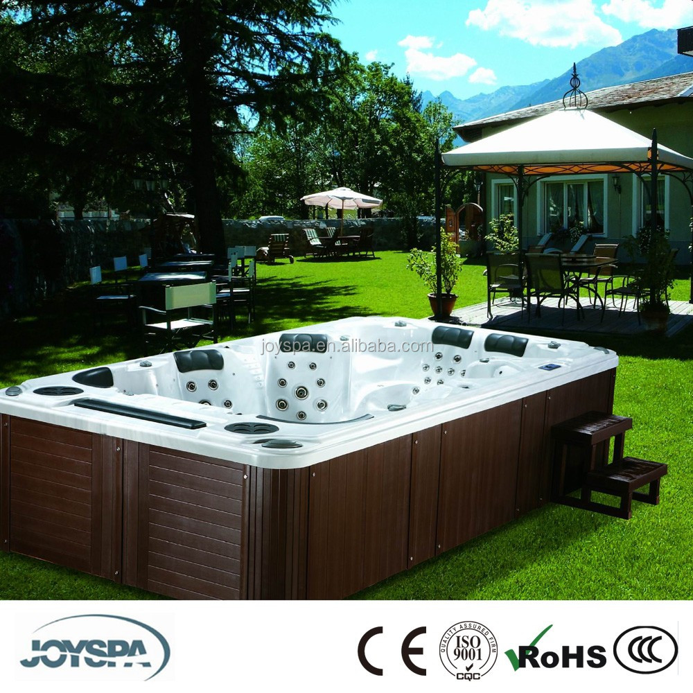 JOYSPA 8 persons Adult Outdoor Hot Spa/Sex Massage BathTub/Rectangular Hot Spa Tub