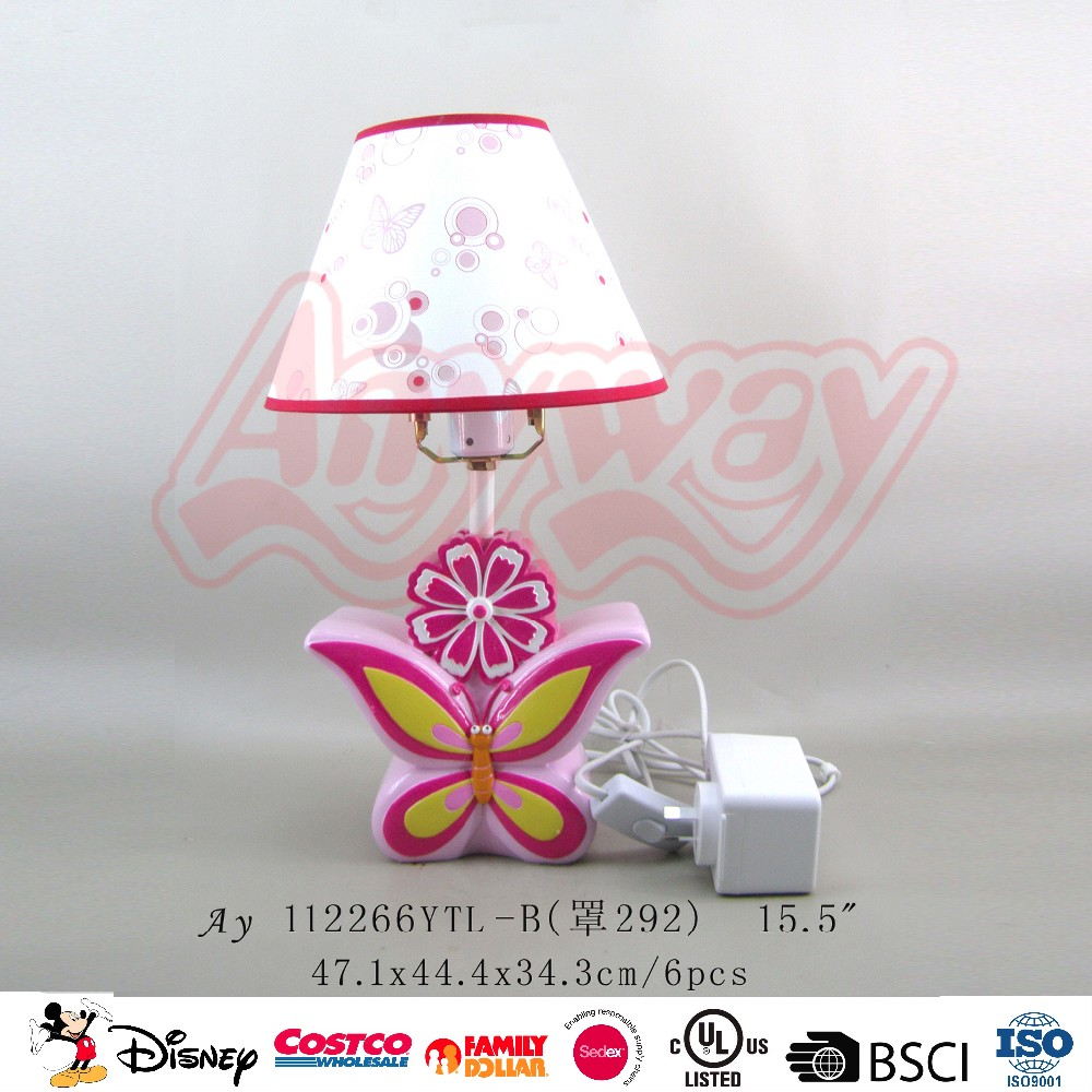 High quality table lamp pink flower shape led reading bed lamps for children