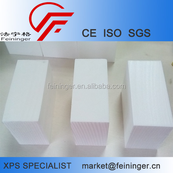 White XPS Foam, extruded polystyrene foam blocks