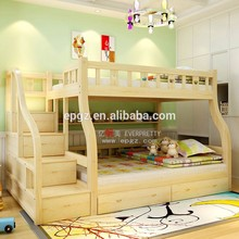 High Quality Modern Kids Wood Double Bunk Bed Bed Designs
