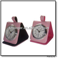 Leather Covered Alarm Clock LG2026