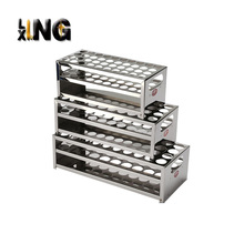 Laboratory rectangle stainless steel display rack function of test tube rack