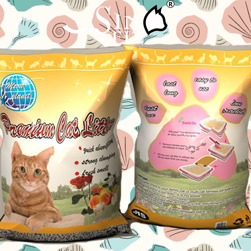 pleasant consistency and natural calming flower scent clear ball type litter bentonite cat sand