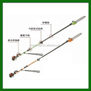 long handle gasoline pole chain saw