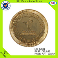 Custom metal coin die stamp plating gold coin