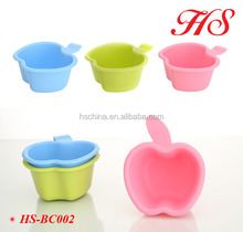 baby shower apple bath spoon plastic scoop shampoo rinse cup baby bath toys