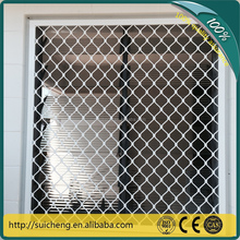 Guangzhou Factory RAL 9010 thickness 6mm diamond grille security window mesh