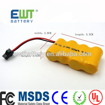 Sub C 4.8v battery pack nicd/ni mh 4.8v SC 2000mah rechargeable battery