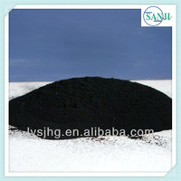 Pyrolysis carbon black coal