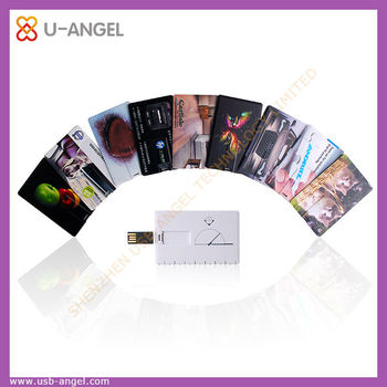 high quality efficient credit card USB pen drive 4GB