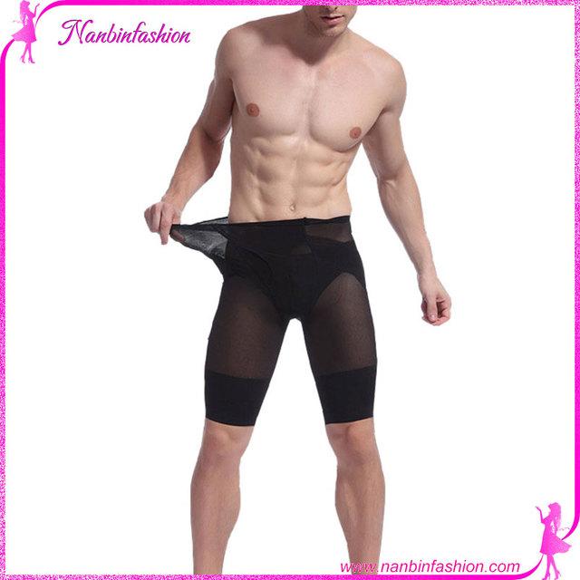 Nanbinfashion wholesale high quality black slimming pants body shaper For Men