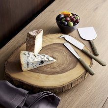 Handmade Natural Wooden Slice Cheese Board Server