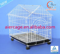 pet supply folding dog cage with wheel