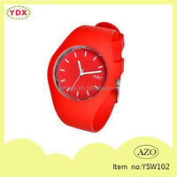 Fashionable waterproof red wristwatches promotion watch