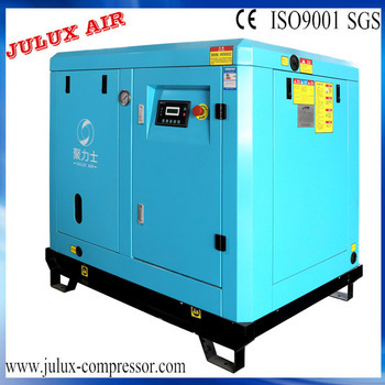 Long serving life and low vibration direct screw air compressor 10bar