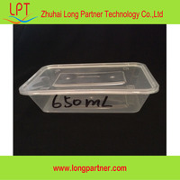 High quality 500ml / 650ml / 750ml /1000ml disposable plastic food container