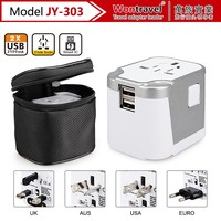 Mobile Phone accessory Universal travel adapter dual Usb charger