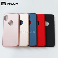 Ultrathin sleek 4 cut pc shockproof hard cover case for iphone x 8