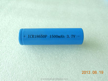 High power rechargeable Li-ion battery 18650 3.7V 1500mAh for power tool