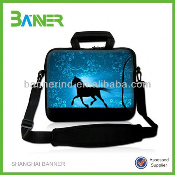 Handle Shoulder strap notebook sleeve Neoprene laptop case with zipper