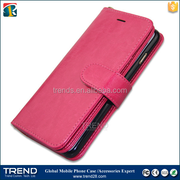 china supplier smartphone wallet style leather case for iphone 6s plus