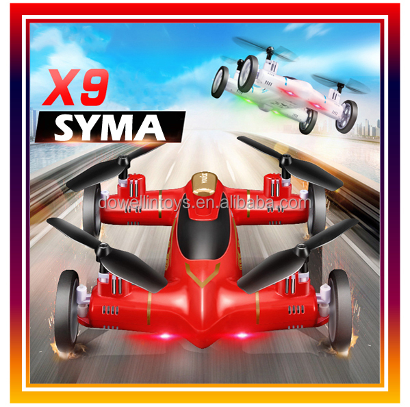 2.4G 4CH 6-axis SYMA X9 Air and Sky Dual Mode RC FLying Car Air-land RC Drone with 3D Flip
