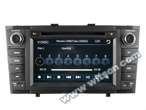 WITSON TOYOTA AVENSIS car dvd gps 2 din with Steering Wheel Control
