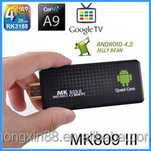Vsspeed MK809 miracast III RK3188 mk3188 Quad Core 1.8GHz best android tv dlna dongles