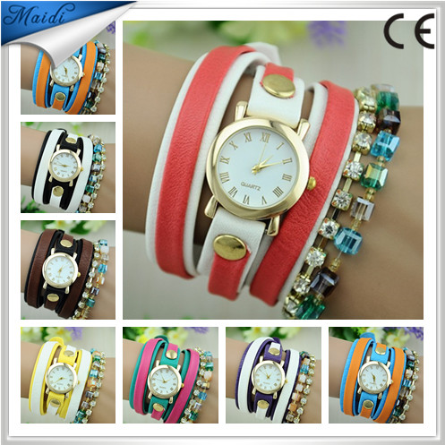 Fashion Fancy Ladies Watches Women Wristwatches Colours Diamond Quartz Watch LW019