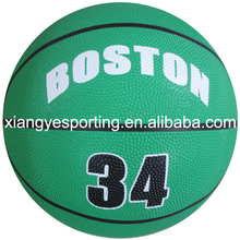 rubber mini size 2 green club basketball
