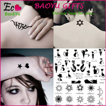 Tattoo Sticker,Gold Metal Foil stickers Tatoos,Temporary Tattoos