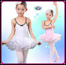 hot selling children dance wear ballet dress stage costume( black white pink)