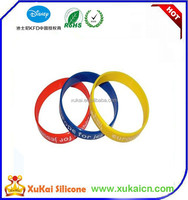 Logo Debossed or Embossed Promotion silicon wristband