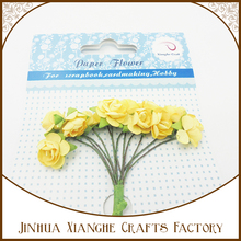 Handmade Mulberry Paper Rose Flower Cheap Wholesale Artificial Paper Flower