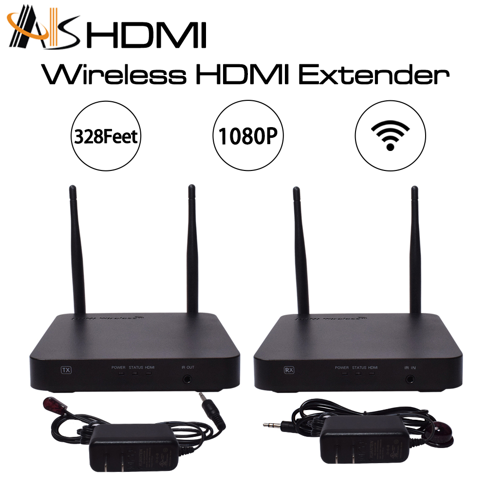 ASK Wireless Hdmi Extender Kit Whdi 1080p 100m Transmitter And Receiver System 2017 Best Buy