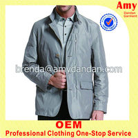 double breasted men leather fashion winter coat